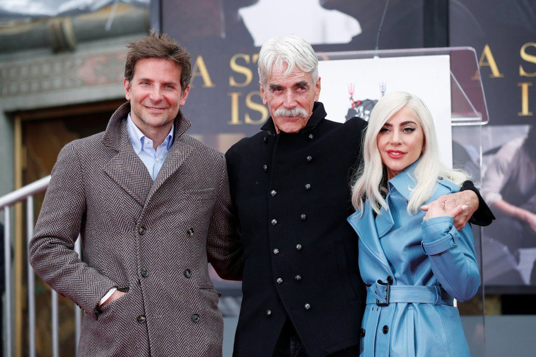布萊德利庫柏(左起)、山姆艾略特、女神卡卡都因「一個巨星的誕生」入圍奧斯卡演技獎