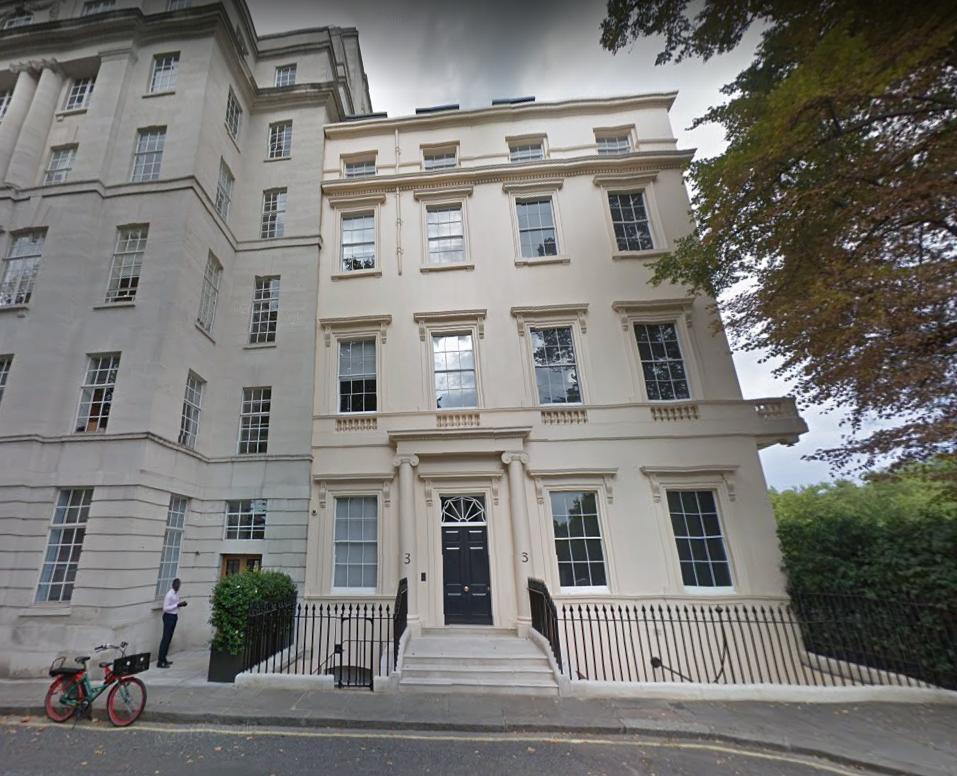 倫敦豪宅「卡爾頓花園三號」距離白金漢宮很近。(取自Google街景)