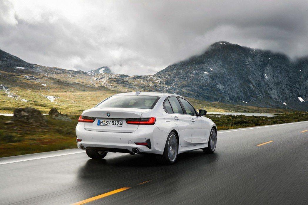 新世代BMW 3 Series Sedan(G20)。 摘自BMW