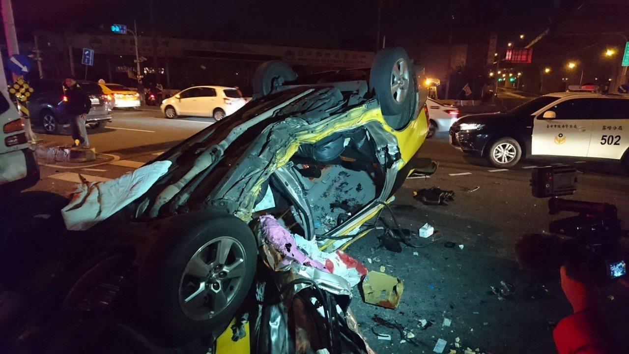 台中3車車禍3死3傷 警方:廂型車駕駛酒駕肇事