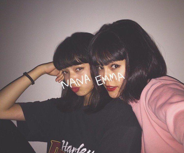 (左)小松菜奈、Emma。圖/擷自instagram