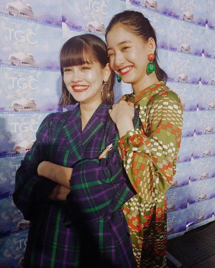 (左)Emma、新木優子。圖/擷自instagram