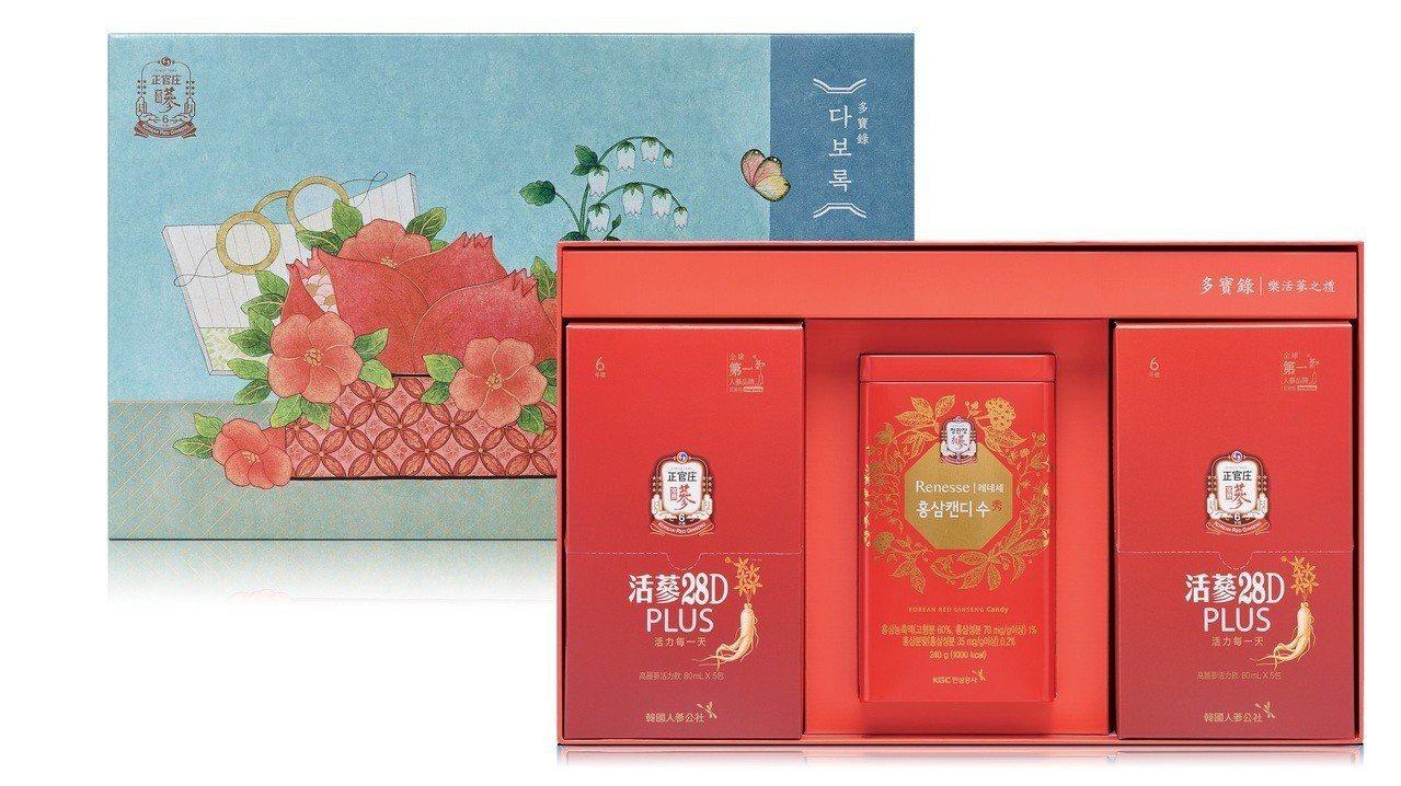 春節伴手禮吹韓流健康風,高麗蔘補氣禮盒千元有找。 圖/正官庄提供