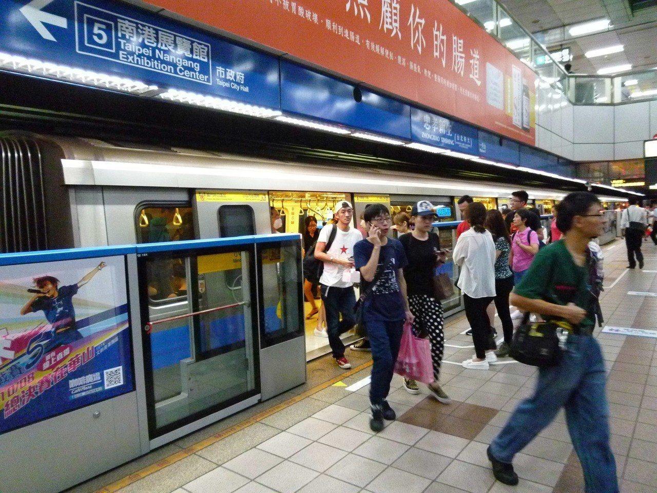 一名紐約作家來台後,大讚台北捷運是世界上最棒的捷運系統。圖片來源/聯合報系資料照