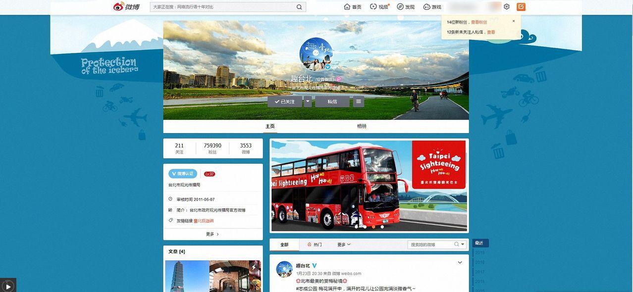 綠營縣市在微博開旅遊平台 新北市府:以後要禁嗎?
