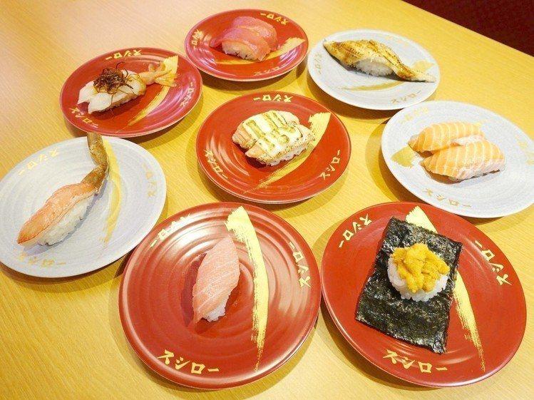 壽司郎的壽司選擇眾多,有「日本迴轉壽司No.1」的美譽。記者張芳瑜/攝影