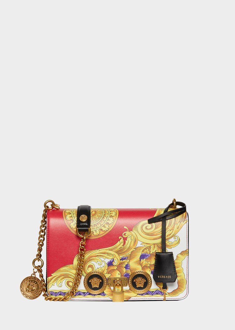 Versace 農曆年限定系列Versace Icon金屬鍊帶肩背包,81,00...