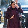「最美孕婦」梅根示範 用酒紅色穿出優雅年味