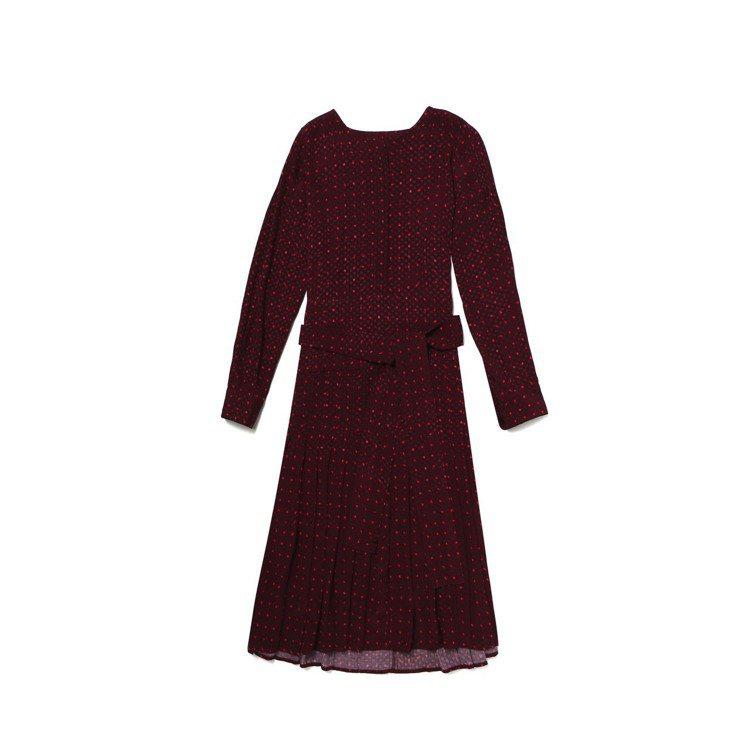 復古印花綁帶洋裝,12,900元。圖/Club Monaco提供