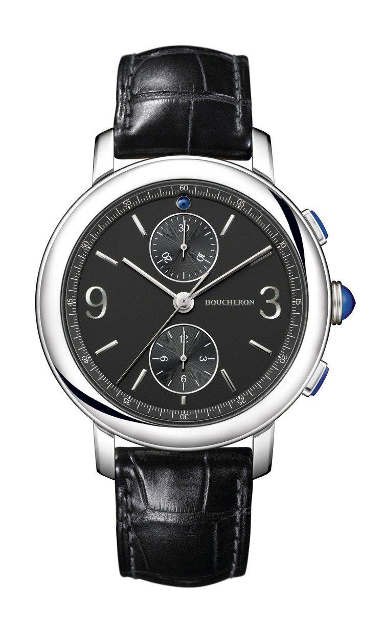 中川大志配戴的Epure 系列18K白金自動上鍊腕表,21萬7,000元。圖/寶...