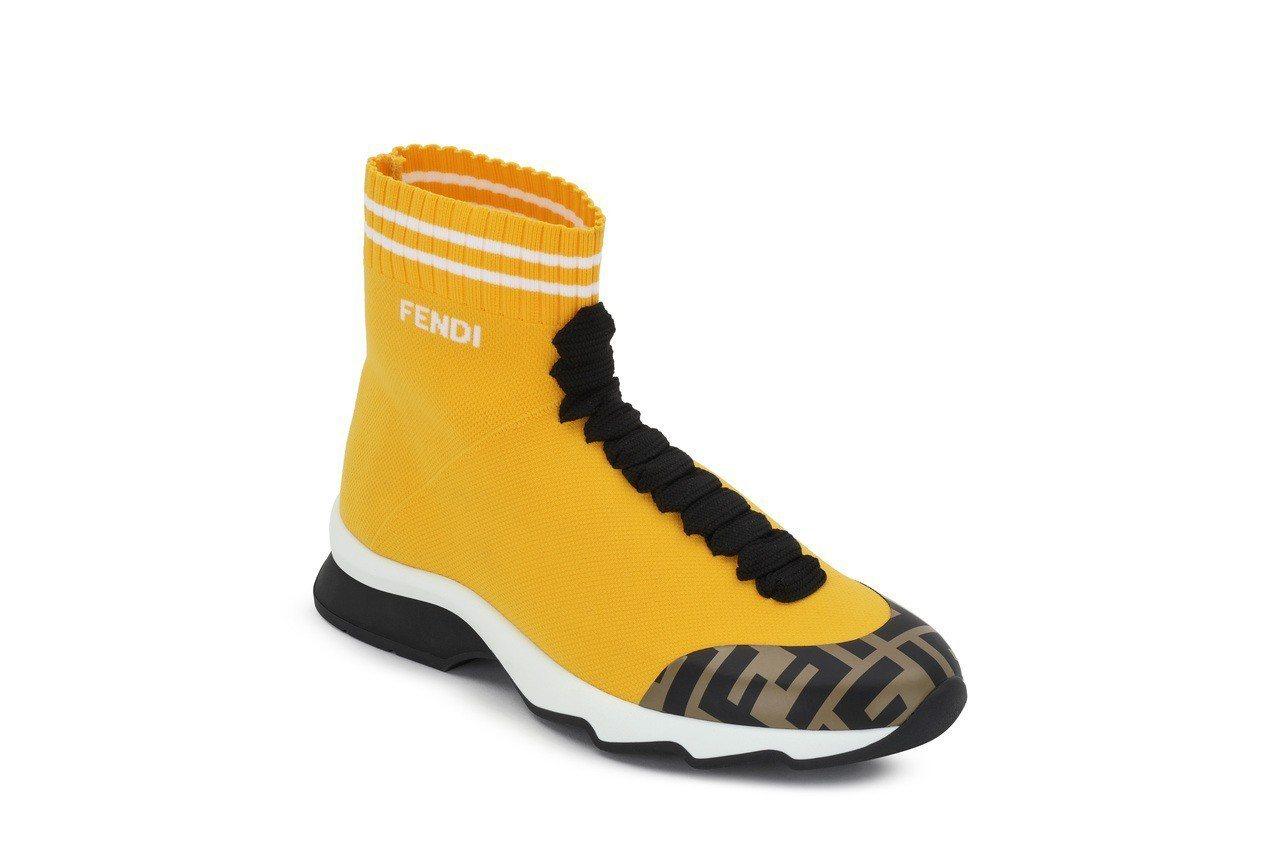 黃色休閒鞋建議售價,售價30,500元。圖/FENDI提供