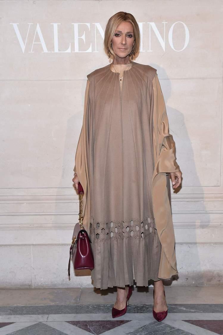 席琳狄翁出席Valentino春夏高級訂製服大秀。圖/Valentino提供