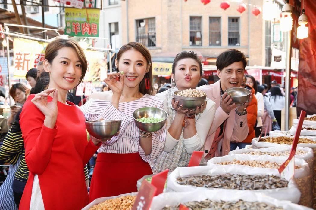 左起陳淑萍、謝金晶、朱海君、鄔兆邦。圖/豪記唱片提供