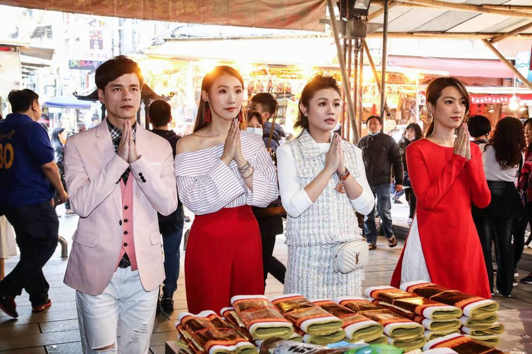 左起鄔兆邦、謝金晶、朱海君、陳淑萍。圖/豪記唱片提供 梅衍儂