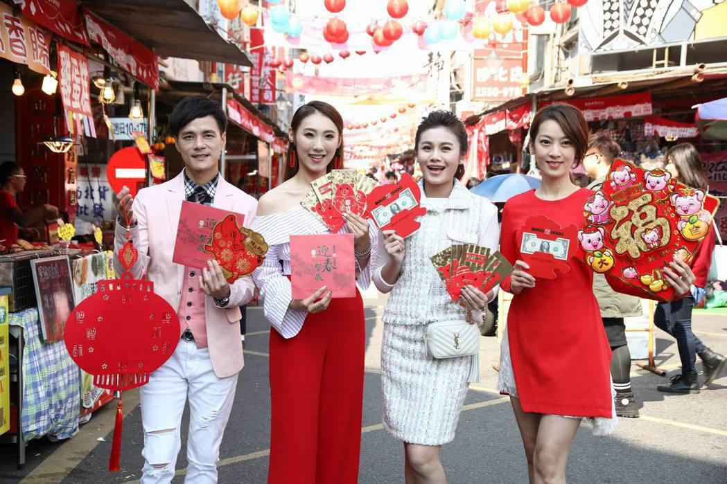 左起鄔兆邦、謝金晶、朱海君、陳淑萍。圖/豪記唱片提供