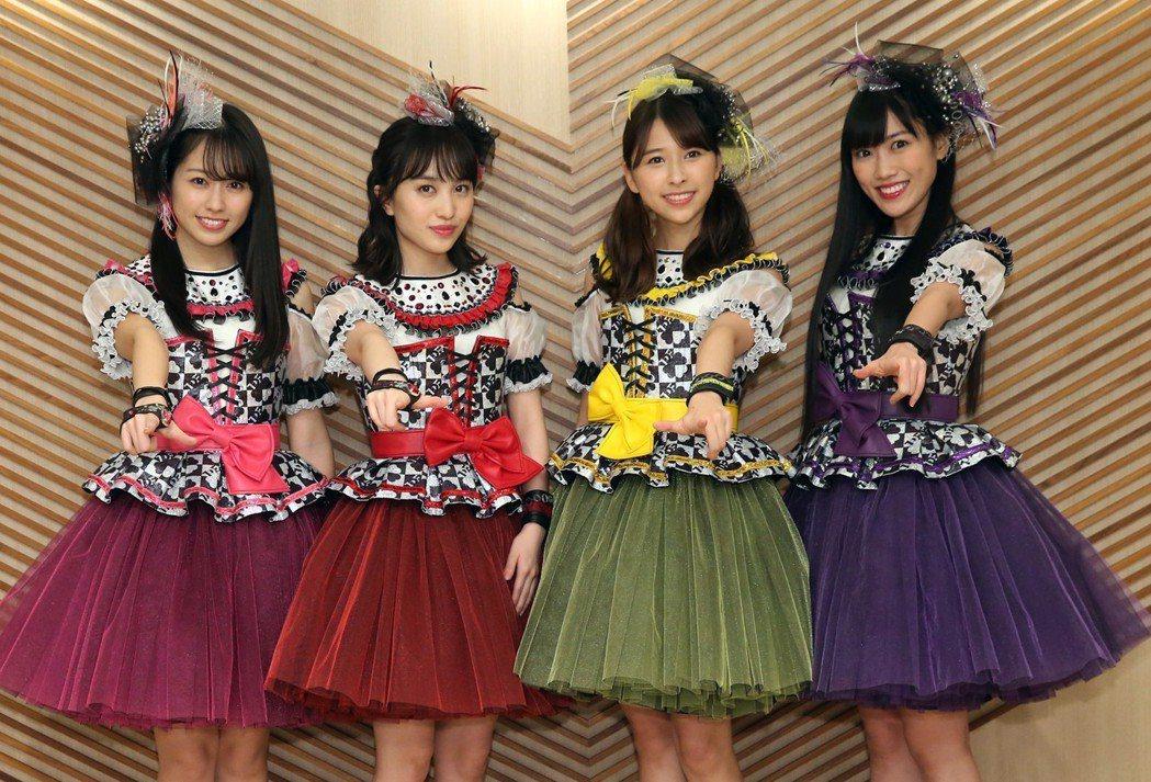 日本女團「桃色幸運草Z」25日首度到訪台灣,26日即將在台北Legacy開唱。記