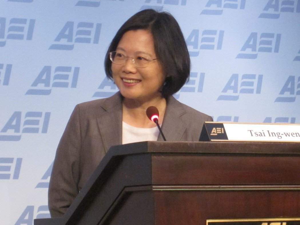 2011年9月,民進黨總統參選人蔡英文在「美國企業研究所」發表演說。圖╱聯合報系...