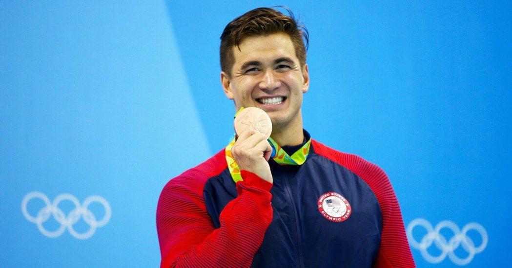 華裔奧運五金泳將倪家駿患癌。 世界日報記者邱鴻安/翻攝