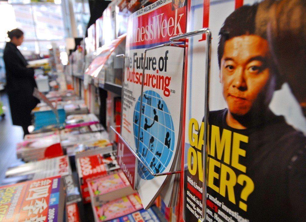 2006年,《時代雜誌》以堀江貴文辭去活力門首席執行官為主題。 圖/美聯社