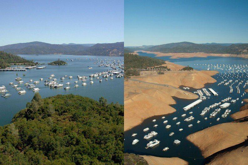 加州水壩變化。圖/遠見提供