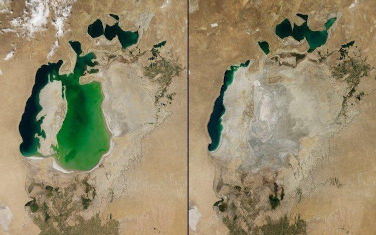 中亞鹹海變化。圖/遠見提供