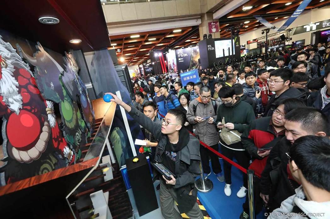 台北國際電玩展-FGO繁中版現場活動。