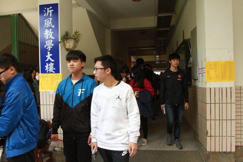 大學學測今天登場。記者郭宣彣/攝影