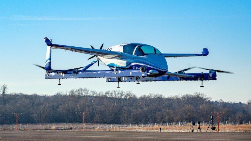 波音公司的PAV空中飛車原型22日首度試飛。取自波音官網