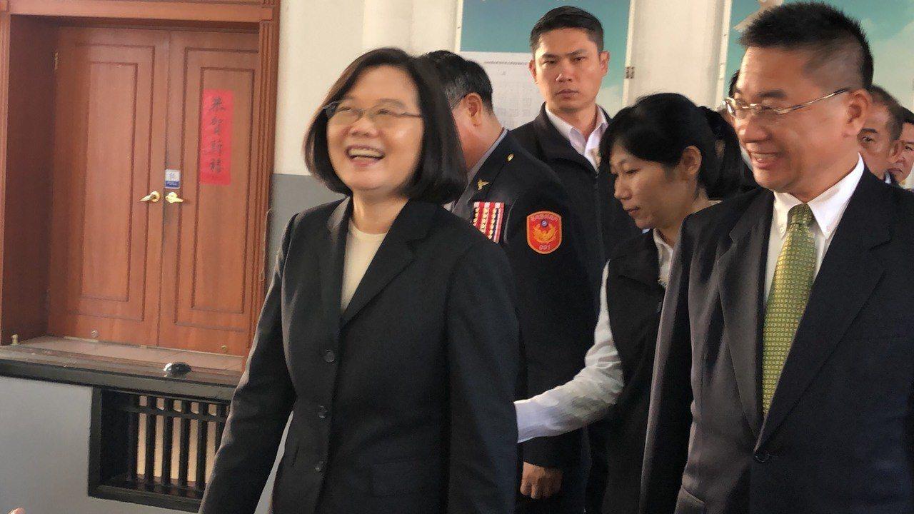 總統蔡英文今天到警政署慰勉警察辛勞。記者李承穎/攝影