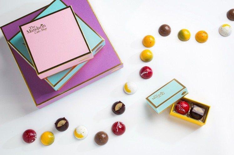 文華餅房巧克力 。圖/文華東方酒店提供