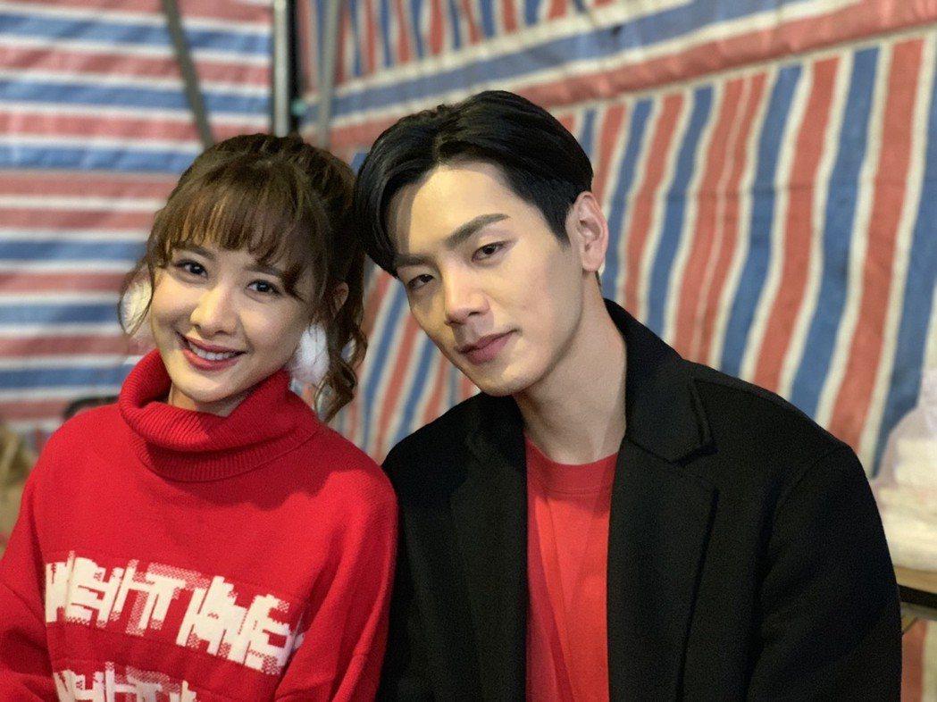 安心亞、禾浩辰出席三立尾牙。記者陳慧貞/攝影