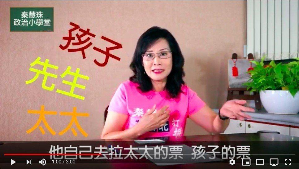 秦慧珠在1994年曾因為家暴二度報警。圖/擷取自秦慧珠YouTube頻道