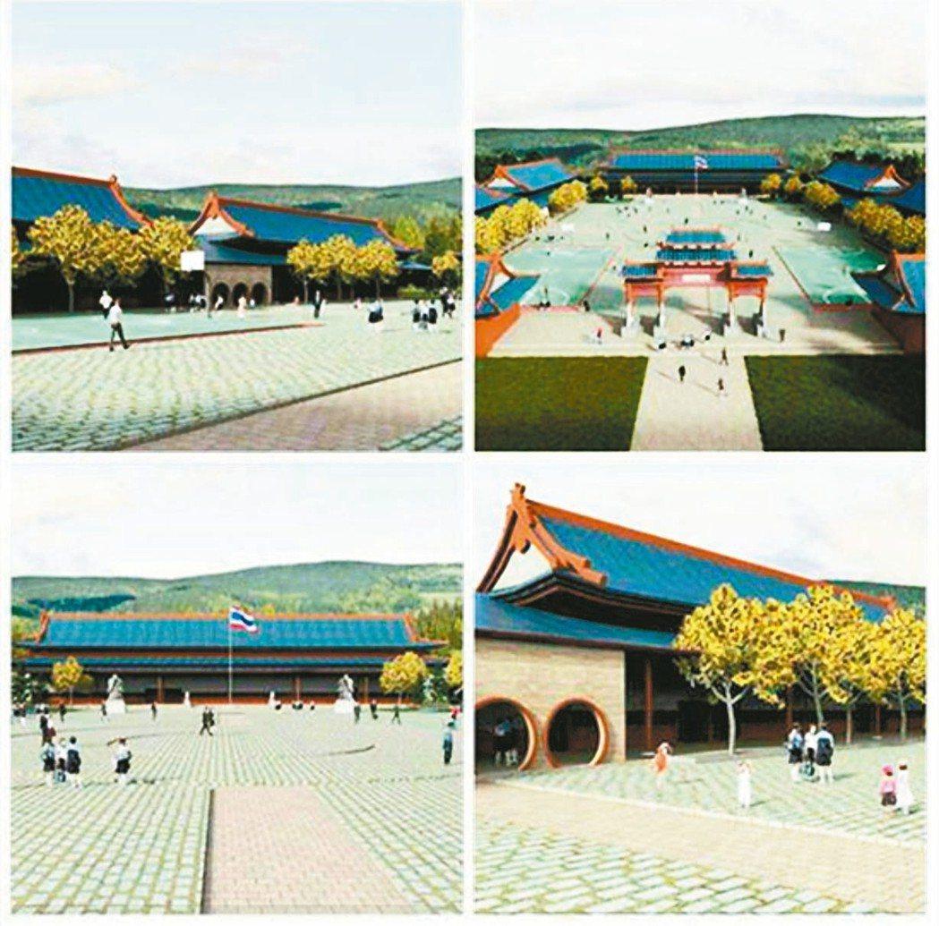華興中學統合校區示意圖,總工程經費3,600多萬泰銖,仍有大半經費,未有著落。 ...