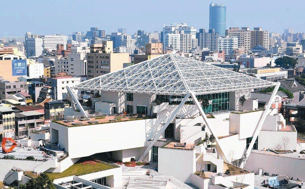 臺南市美術館2館鳥瞰照。 陳慧明/攝影