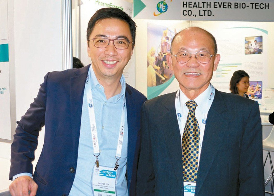 台微體董事長洪基隆(右)與總經理葉志鴻。 (本報系資料庫)