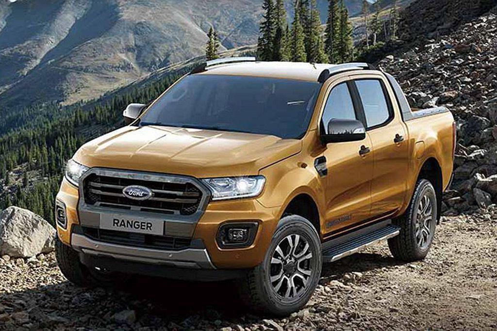 小改款Ford Ranger外觀換上新式水箱護罩及新頭燈/霧燈設計,內裝導入SY...