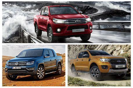 日系中型皮卡霸主將登台?Toyota Hilux、Ford Ranger、VW Amarok戰力分析