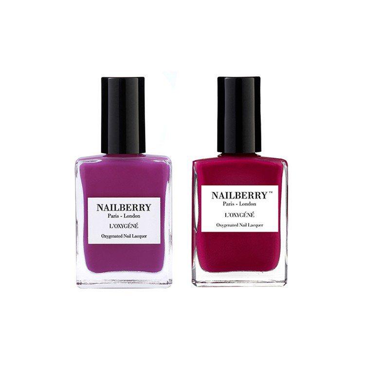 桃粉色的NAILBERRY「Hollywood Rose 荊棘狂花」和莓果色的「...