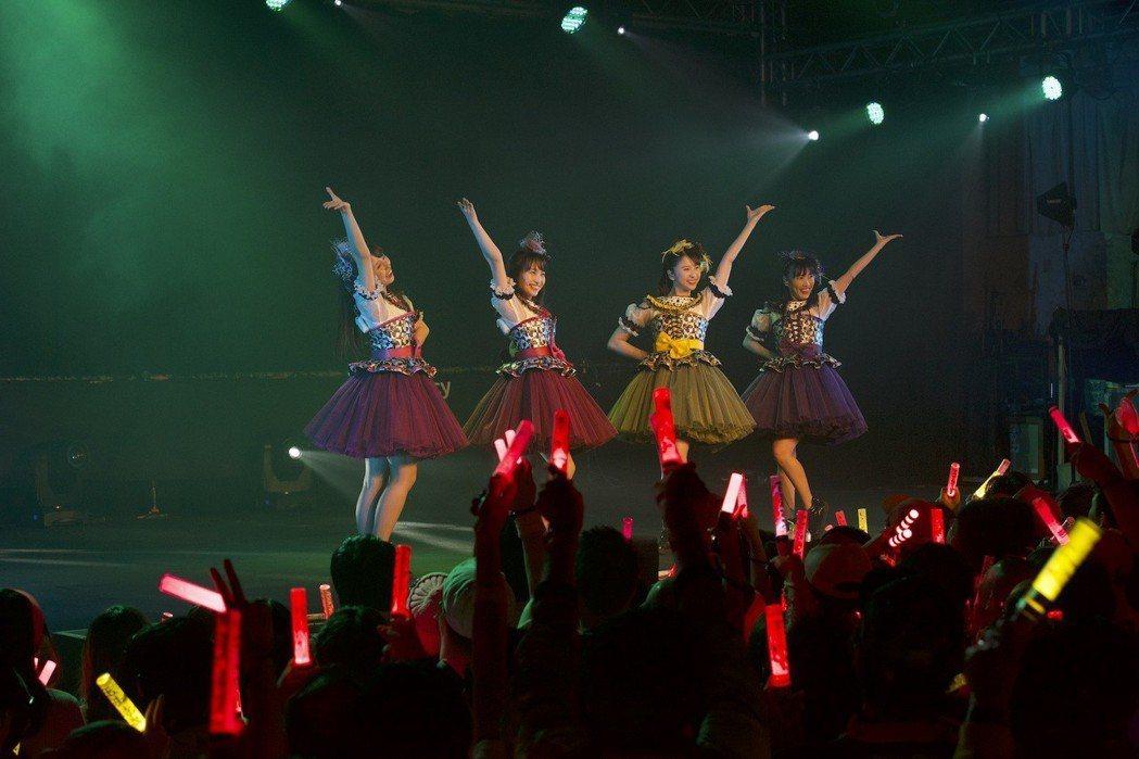 桃色幸運草Z在小舞台上照樣萌力全開。圖/大鴻藝術提供