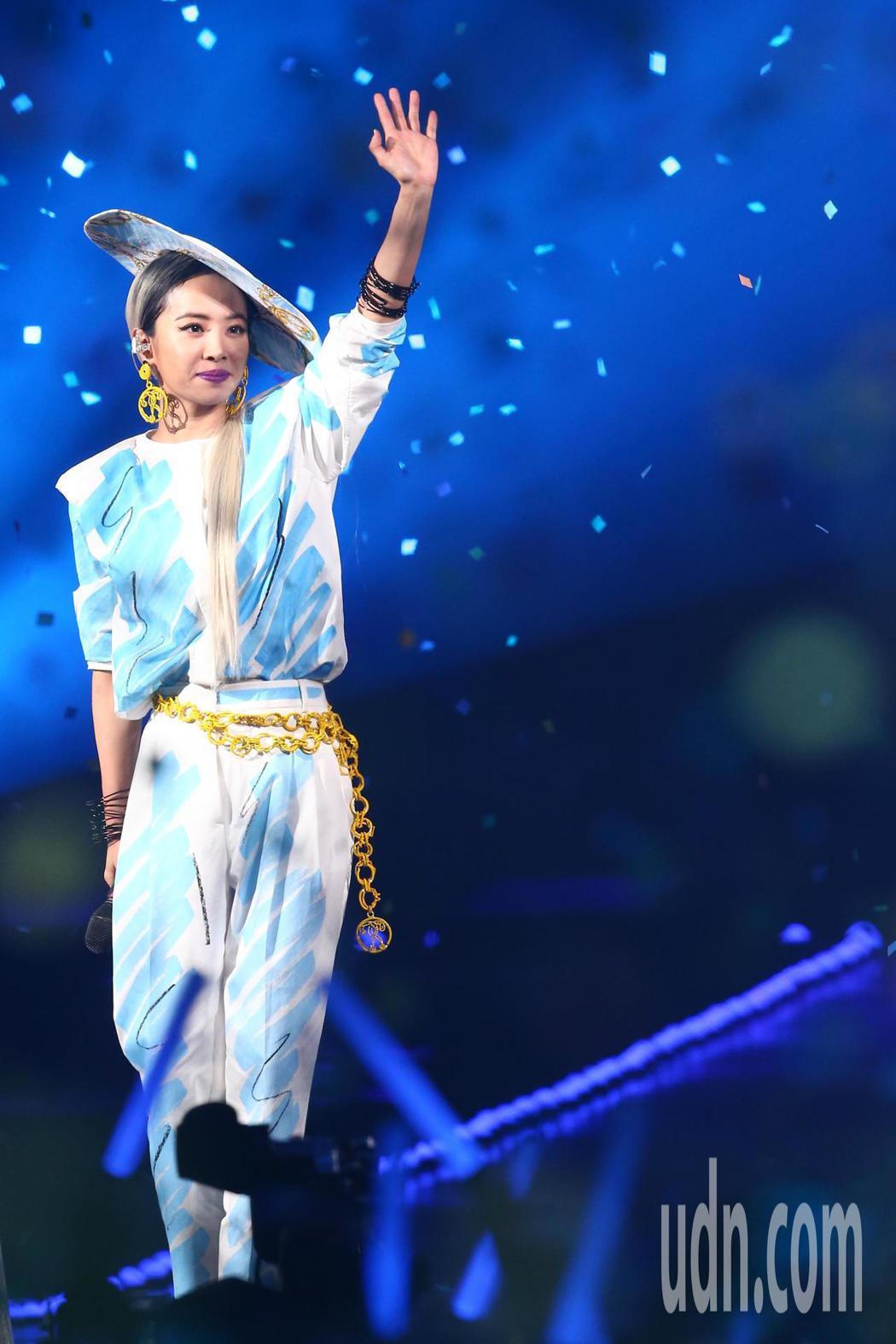 蔡依林參加第14屆kkbox風雲榜,並擔任表演嘉賓。記者葉信菉/攝影