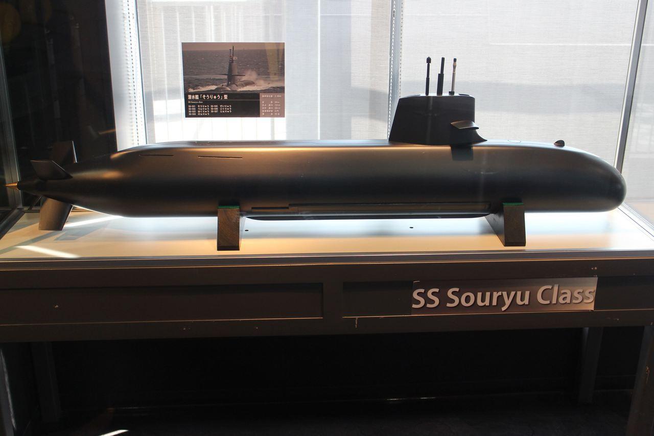 日本蒼龍級潛艦模型。圖/王志鵬提供