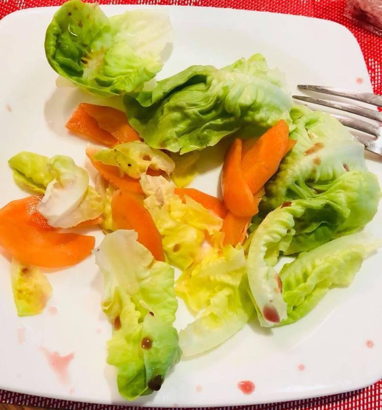 這是徐若瑄之前的一餐。圖/摘自徐若瑄臉書