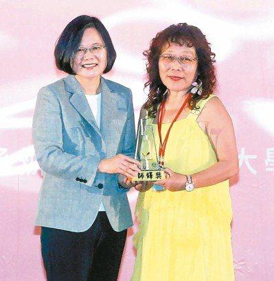 高雄市瑞豐國小附屬幼兒園教師羅惠芬曾獲師鐸獎。圖/教育部提供