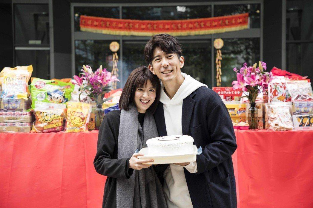 林予晞、修杰楷出席新戲「天堂的微笑」開鏡。圖/TVBS提供