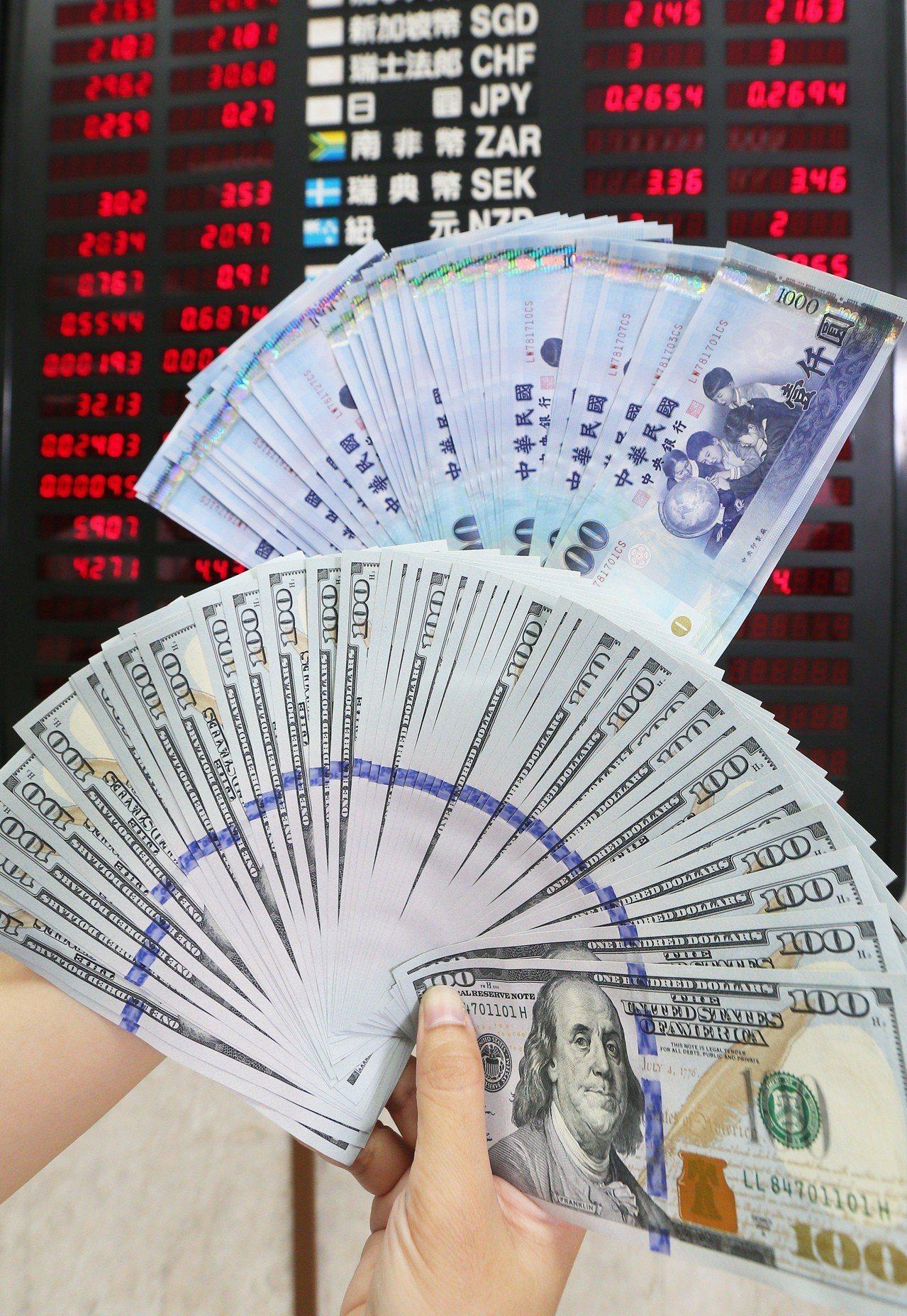 銀行推外幣高利定存,鼓勵客戶分批逢低布局。圖/聯合報系資料照片