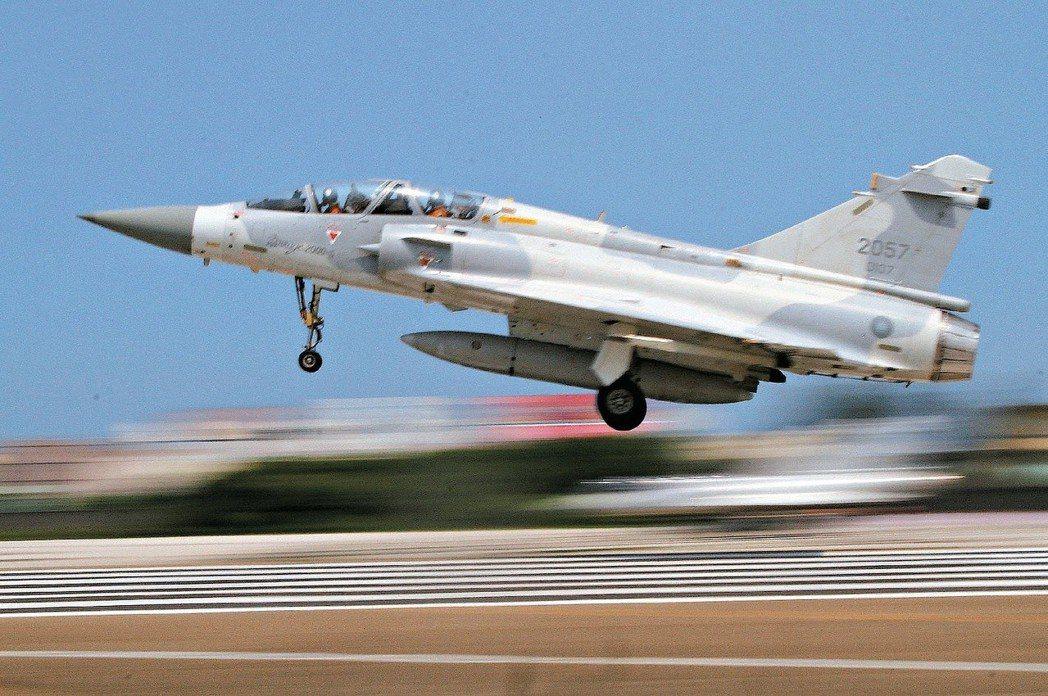 圖為九六台海危機期間,曾與中共防空飛彈交手的空軍新竹幻象戰機第42作戰隊。 圖/...