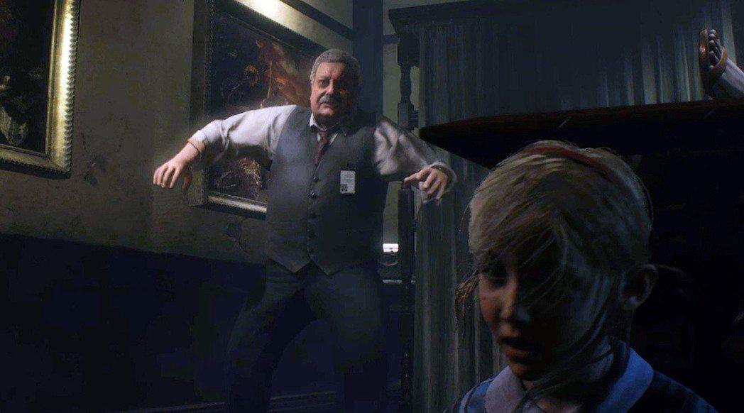 在雪莉的單獨劇情裡面,玩家得發揮超強的躲藏能力與局長周旋,不然一被逮到就是遊戲結...
