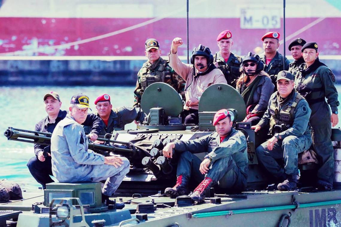 「別人休想染指這塊神聖的祖國土地!」委內瑞拉「現任總統」馬杜羅(Nicolas ...