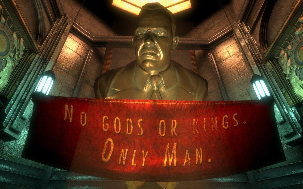 ▲Andrew Ryan 秉持著「沒有神,沒有王,人人皆平等」的理念打造了海底城