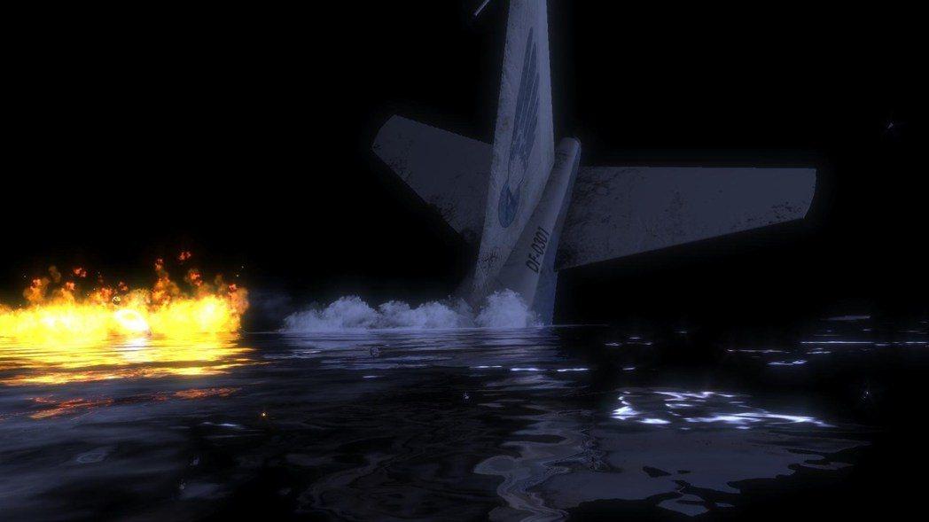 ▲主角搭乘的班機墜毀在海底城入口附近,不過整件事卻不像單純的巧合